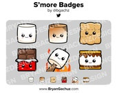Kawaii Smores Subscriber - Loyalty - Bit Badges for Twitch, Discord or Youtube