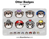 Otter Subscriber - Loyalty - Bit Badges for Twitch, Discord or Youtube