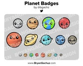 Planet Subscriber - Loyalty - Bit Badges for Twitch, Discord or Youtube