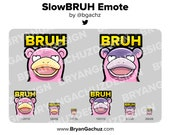 Pokemon Slowbro BRUH Emote for Twitch, Discord or Youtube