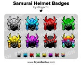 Samurai Helmet Subscriber - Loyalty - Bit Badges for Twitch, Discord or Youtube