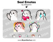 Seal Emotes for Twitch, Discord or Youtube