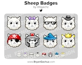 Sheep/Lamb Subscriber - Loyalty - Bit Badges for Twitch, Discord or Youtube