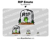 RIP Tombstone Emote for Twitch, Discord or Youtube
