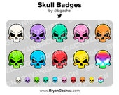 Colorful Skull Subscriber - Loyalty - Bit Badges for Twitch, Discord or Youtube