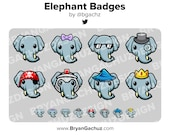 Elephant Subscriber - Loyalty - Bit Badges - Channel Points for Twitch, Discord or Youtube
