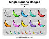 Single Banana Subscriber - Loyalty - Bit Badges for Twitch, Discord or Youtube