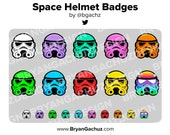 Space Helmet Subscriber - Loyalty - Bit Badges for Twitch, Discord or Youtube