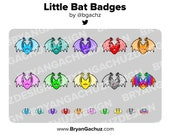 Little Bat Subscriber - Loyalty - Bit Badges for Twitch, Discord or Youtube