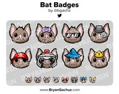 Bat Subscriber - Loyalty - Bit Badges for Twitch, Discord or Youtube