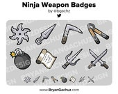 Ninja Weapon Subscriber - Loyalty - Bit Badges for Twitch, Discord or Youtube