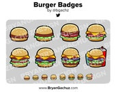 Burger Subscriber - Loyalty - Bit Badges for Twitch, Discord or Youtube
