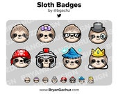 Sloth Subscriber - Loyalty - Bit Badges for Twitch, Discord or Youtube