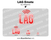 LAG Emote for Twitch, Discord or Youtube