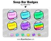 Soap Bar Subscriber - Loyalty - Bit Badges for Twitch, Discord or Youtube