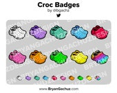 Colorful Croc/Crocs Shoe Subscriber - Loyalty - Bit Badges for Twitch, Discord or Youtube