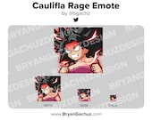 Girl RAGE Emote for Twitch, Discord or Youtube