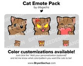 Cat Emotes Loyalty - Bit Badges for Twitch, Discord or Youtube