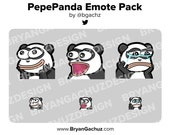 Pepe Panda Emote Pack for Twitch, Discord or Youtube