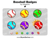 Baseball Subscriber - Loyalty - Bit Badges for Twitch, Discord or Youtube
