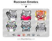 Raccoon Emotes for Twitch, Discord or Youtube