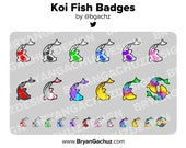 Koi Fish Subscriber - Loyalty - Bit Badges for Twitch, Discord or Youtube