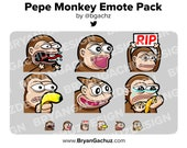 Pepe Monkey Emote Pack for Twitch, Discord or Youtube