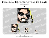 Cyberpunk Keanu Johnny Silverhand GG Emote for Twitch, Discord or Youtube
