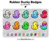 Rubber Ducky Subscriber - Loyalty - Bit Badges for Twitch, Discord or Youtube