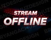 Red Keyboard Twitch Offline Screen