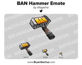BAN Hammer Emote for Twitch, Discord or Youtube