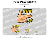PEW PEW Emote for Twitch, Discord or Youtube