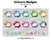 Unicorn Subscriber - Loyalty - Bit Badges for Twitch, Discord or Youtube