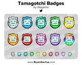 Colorful Tamagotchi Subscriber - Loyalty - Bit Badges for Twitch, Discord or Youtube