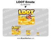 LOOT, Treasure, Gold Emote for Twitch, Discord or Youtube
