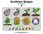 Sunflower Subscriber - Loyalty - Bit Badges for Twitch, Discord or Youtube