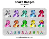 Snake Subscriber - Loyalty - Bit Badges for Twitch, Discord or Youtube