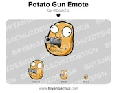 Potato Gun Emote for Twitch, Discord or Youtube
