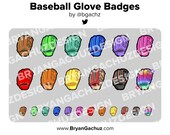 Colorful Baseball Glove/Mitt Subscriber - Loyalty - Bit Badges - Channel Points for Twitch, Discord or Youtube