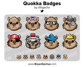 Quokka Subscriber - Loyalty - Bit Badges for Twitch, Discord or Youtube