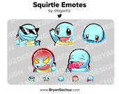 Pokemon Squirtle Emote Pack for Twitch, Discord or Youtube