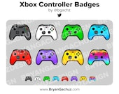 Video Game Controller Subscriber X - Loyalty - Bit Badges for Twitch, Discord or Youtube