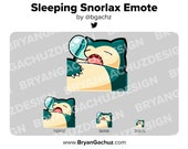 Pokemon Sleeping Snorlax Emote for Twitch, Discord or Youtube