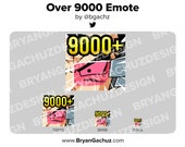 Power Level Over 9000 Emote for Twitch, Discord or Youtube