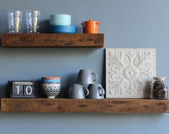 More Colors. Reclaimed Wood Floating Shelves ...