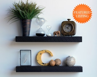 Reclaimed Wood Floating Accent Shelves   Amish Handcrafted In Lancaster  County, PA   Industrial, Rustic, Genuine Barn Wood