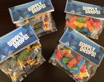 Fortnite Battle Royale Birthday Party Favors Candy goddie Bags Battle drops Sourpatch kids jolly ranchers