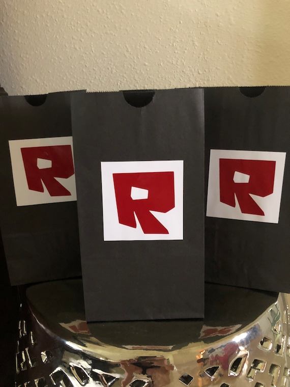 Roblox Party Favor Bags Goodie Bags Loot Bags Birthday Party Etsy