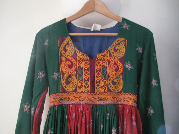 Vintage Original 1970s Embroidered Afghan Festival