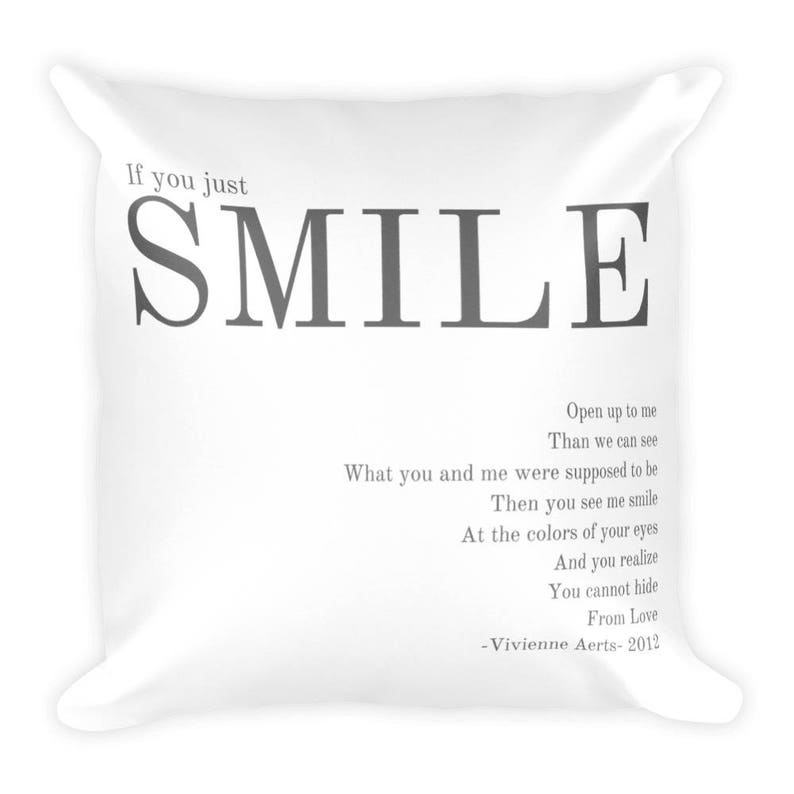 Smile Lyrics Square Pillow image 0